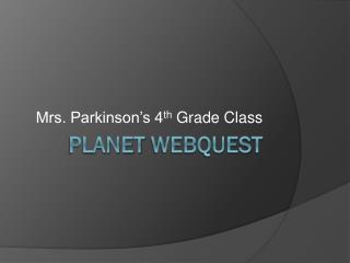 Planet  Webquest