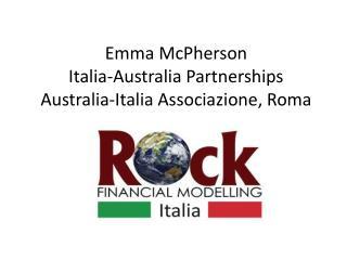 Emma McPherson Italia-Australia  Partnerships Australia-Italia  Associazione , Roma