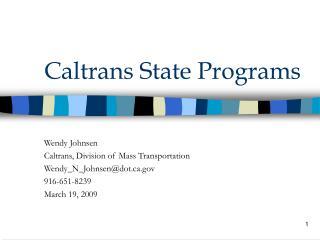 Caltrans State Programs