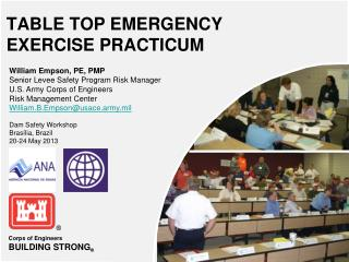 TABLE TOP EMERGENCY EXERCISE PRACTICUM