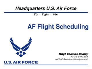 AF Flight Scheduling