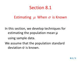 Section 8.1