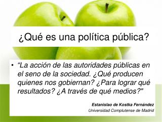 ¿Qué es una política pública?