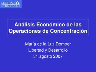 Análisis Económico de las Operaciones de Concentración