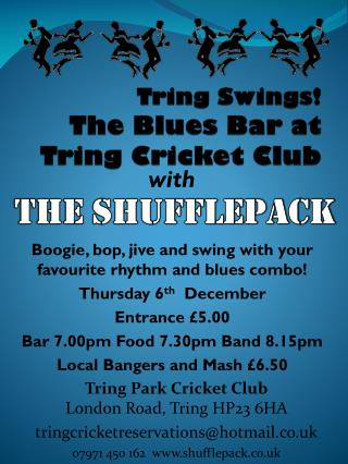 Tring  Swings! The Blues Bar at Tring  Cricket Club