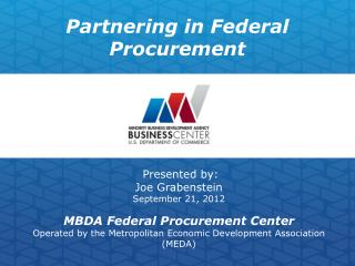 Partnering in Federal Procurement