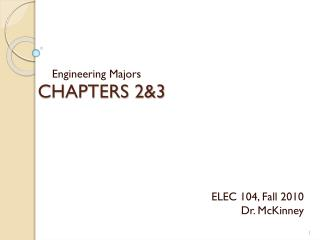 CHAPTERS 2&3