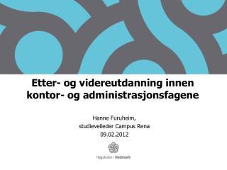 Etter- og videreutdanning innen kontor- og administrasjonsfagene