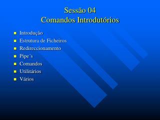 Sessão 04 Comandos Introdutórios