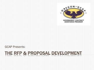 THE RFP  & Proposal Development