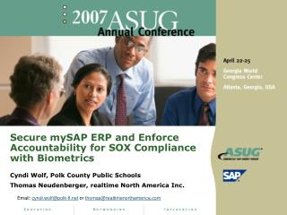 Secure mySAP ERP and Enforce Accountability for SOX Compliance with Biometrics