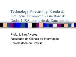Profa. Lillian Alvares Faculdade de Ciência da Informação  Universidade de Brasília