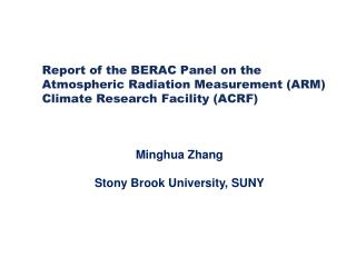 Minghua  Zhang Stony Brook University, SUNY