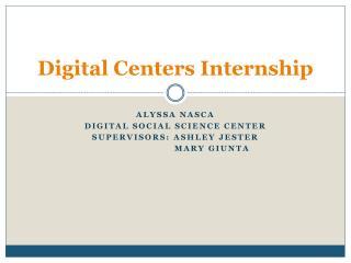 Digital Centers Internship