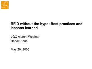RFID without the hype: Best practices and lessons learned