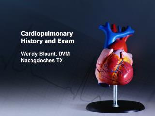 Cardiopulmonary  History and Exam