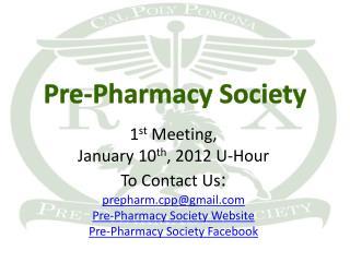 Pre-Pharmacy Society