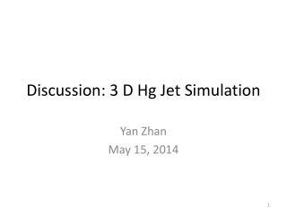 Discussion: 3 D Hg Jet Simulation