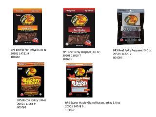 BPS Beef Jerky Teriyaki 3.0  oz 20501 14721 9 103602