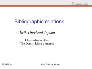 Bibliographic relations