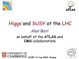 Higgs  and  SUSY  at the  LHC