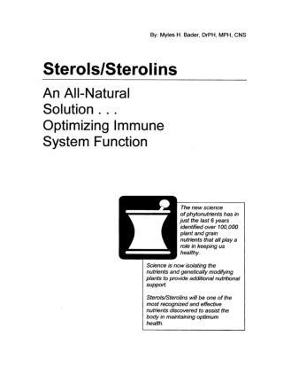 sterols sterolins