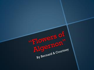 """Flowers of Algernon"""