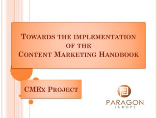 Towards the implementation  of the  Content  Marketing  Handbook