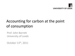 Accounting for carbon at the point of consumption