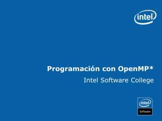 Programación con OpenMP*