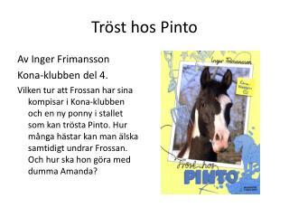 Tr�st hos  Pinto