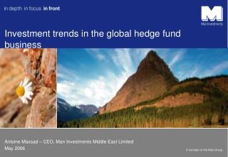 Investment trends in the global hedge fund business