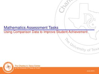Mathematics Assessment Tasks Using Comparison Data to Improve Student Achievement