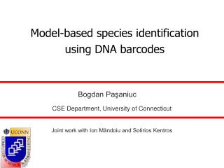 Model-based species identification using DNA barcodes