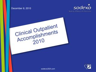 Clinical Outpatient Accomplishments 2010
