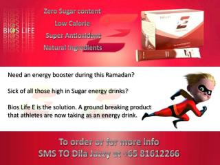 Need an energy booster during this Ramadan?  Sick of all those high in Sugar energy drinks?