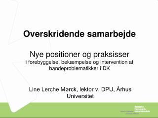 Line Lerche Mørck, lektor v. DPU, Århus Universitet