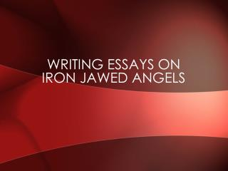 Writing Essays on Iron Jawed Angels