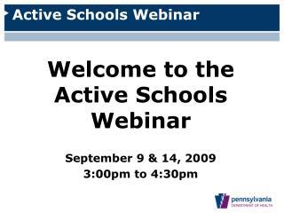 Active Schools Webinar