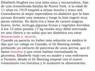 Elizabeth Hughes era una niña sana y encantadora, hija