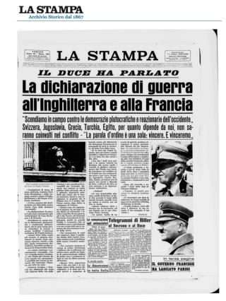 1940-1943 Italia in guerra