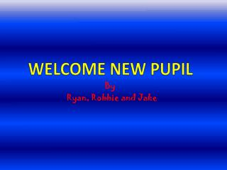 WELCOME NEW PUPIL