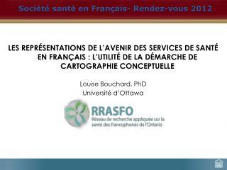 Société santé en Français- Rendez-vous 2012