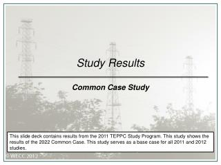 Study Results Common Case Study
