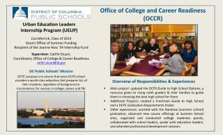 Urban Education Leaders Internship Program (UELIP)