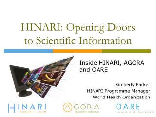 HINARI: Opening Doors to Scientific Information