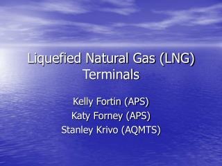 Liquefied Natural Gas LNG Terminals