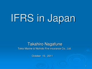 IFRS in Japan