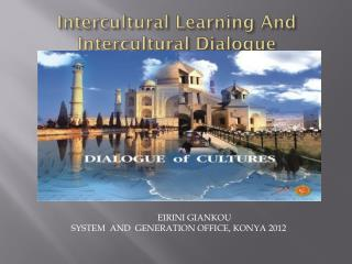 Intercultural Learning And Intercultural Dialogue