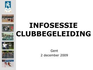 INFOSESSIE  CLUBBEGELEIDING